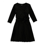 AGB Womens Cross Front A-line Dress