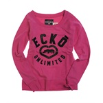 Ecko Unltd. Womens French Terry Satin Knit Sweater