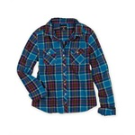 Ecko Unltd. Womens Western Plaid Button Up Shirt