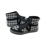 Vans Womens Corrie Hi Box Plaid Skate Sneakers