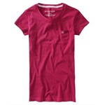 Aeropostale Womens Solid A87 Pocket Basic T-Shirt