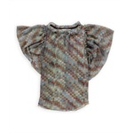 Rachel Roy Womens Sheer Checkered Pullover Blouse