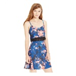 Material Girl Womens Mesh-Waist Floral Sundress