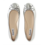 Aeropostale Womens Metallic Slip-on Ballet Flats