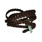 Aeropostale Womens Leather Braided Belt