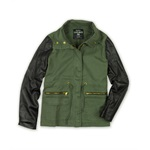 Ecko Unltd. Womens Twill W Pu Slv Military Jacket