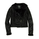 Ecko Unltd. Womens Faux Shearling Motorcycle Jacket