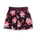 Aeropostale Womens Floral Pleated Mini Skirt