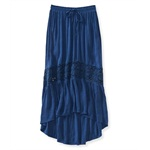 Aeropostale Womens Full Length Lace Insert Maxi Skirt