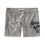 Aeropostale Womens Aero #87 Mid Length Athletic Sweat Shorts