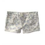 Aeropostale Womens Floral Print Rolled Cuff Casual Mini Shorts
