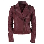 Aeropostale Womens Faux Leather Motorcycle Jacket