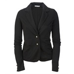 Aeropostale Womens Solid Cropped Two Button Blazer Jacket