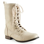 Aeropostale Womens Lace Up Combat Boots