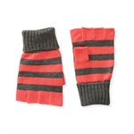 Aeropostale Womens Knit Striped Fingerless Gloves