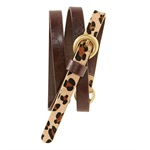 Aeropostale Womens Thin Animal Print Skinny Belt