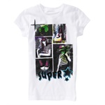 Aeropostale Girls Glitter Super Star Graphic T-Shirt