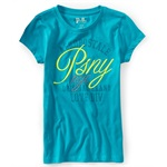 Aeropostale Girls PSNY Love Div. Graphic T-Shirt