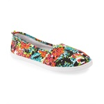 Aeropostale Womens Floral Slip On Sneakers