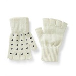 Aeropostale Womens Studded Fingerless Gloves