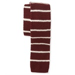 Aeropostale Mens Knit Striped Necktie