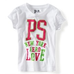 Aeropostale Girls PS Love Graphic T-Shirt