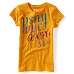Aeropostale Girls Glitter PSNY Graphic T-Shirt