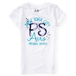 Aeropostale Girls Foil Hearts Graphic T-Shirt