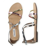 Aeropostale Womens Cleopatra Shimmer Gladiator Sandals