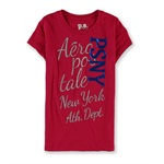 Aeropostale Girls PSNY Foil Graphic T-Shirt