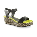 Aeropostale Womens Neon Pop Wedge Heels