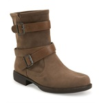 Aeropostale Womens Moto Buckled Comfort Boots