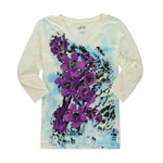 Style&co. Womens Rhinestone Flower Graphic T-Shirt
