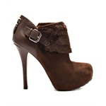 GUESS Womens Oleta Cuffed Ankle Platform Boots