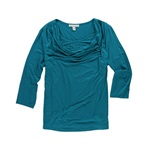 JM Collection Womens Cowl Rhinestone Knit Blouse