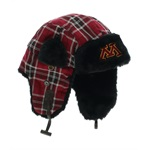 Top of the World Mens Minnesota Plaid Trapper Hat