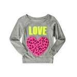 Justice Girls Love Heart Pullover Sweater