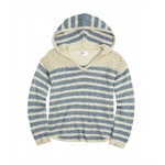 Justice Girls Striped Hoodie Pullover Sweater