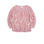 Justice Girls Shimmer Hi-Lo Knit Sweater
