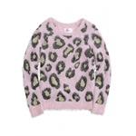 Justice Girls Fuzzy Print Knit Sweater