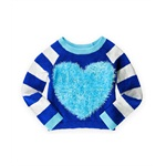 Justice Girls Fur Heart Knit Sweater