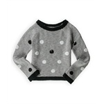 Justice Girls Polka Dot Sequin Knit Sweater