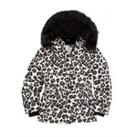 Justice Girls Animal Print Puffer Jacket