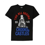 Crooks & Castles Mens All Seeing Eye 2 Graphic T-Shirt