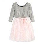 Pink & Violet Girls Dot Tutu Shift Dress