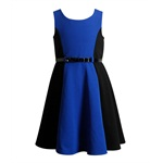 Sweet Heart Rose Girls Colorblock Ponte A-line Dress