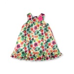 Bluberi Boulevard Girls Chiffon Floral Rosette Tiered Dress