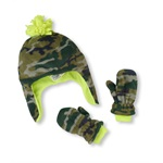The Children's Place Boys Glacier Camo Hat And Mitten Beanie Hat