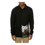 Crooks & Castles Mens The Takeover LS Button Up Shirt
