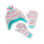 The Children's Place Girls Snowflake Hat And Glove Beanie Hat